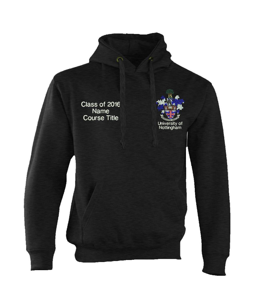 W72 Embroidered 2016 Graduation Hoodie-Nottingham Heavyweight Hooded Top