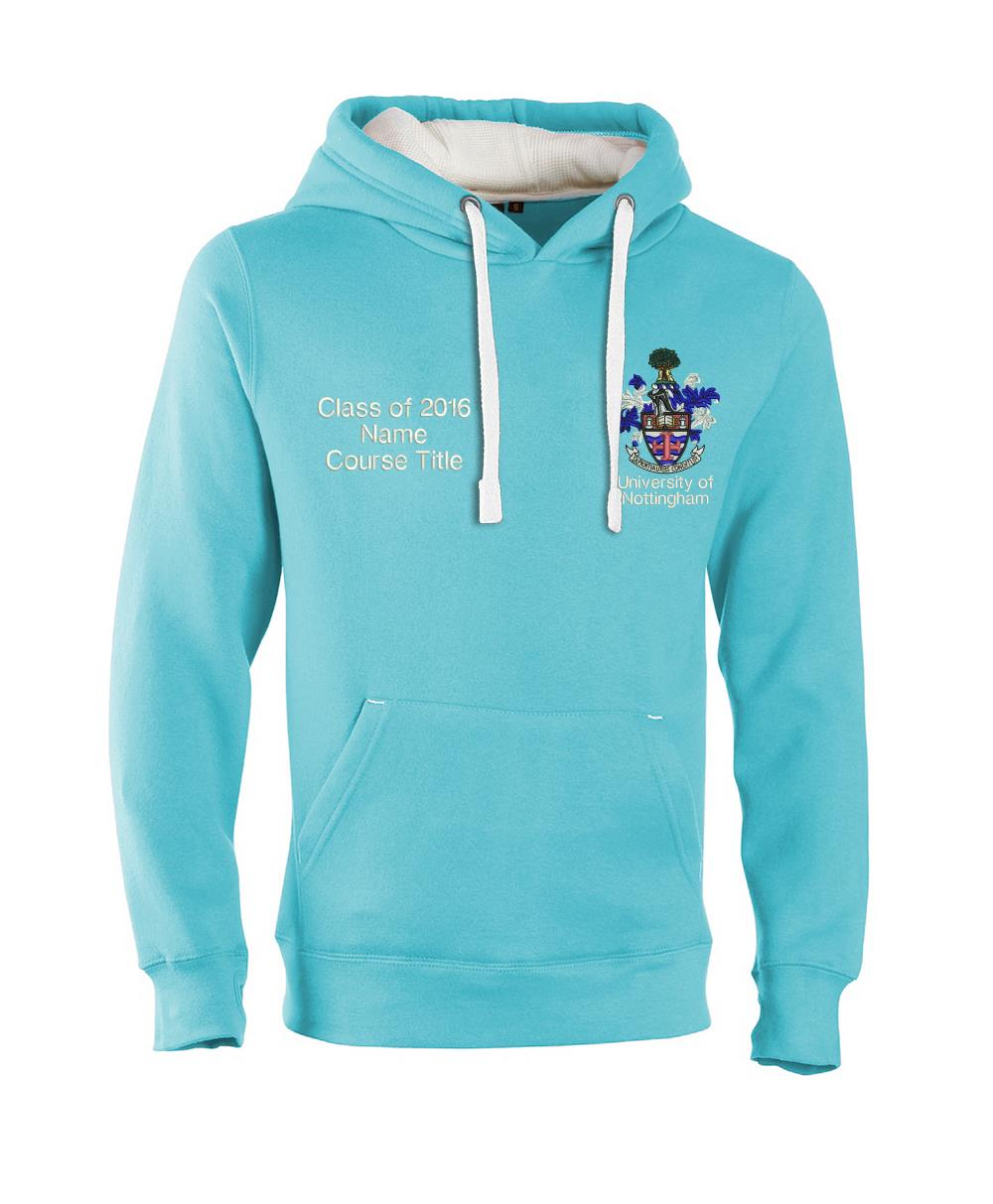 W89PF Ultra-Premium Graduation Hoodie-Nottingham Ultra Soft Feel Hooded Top