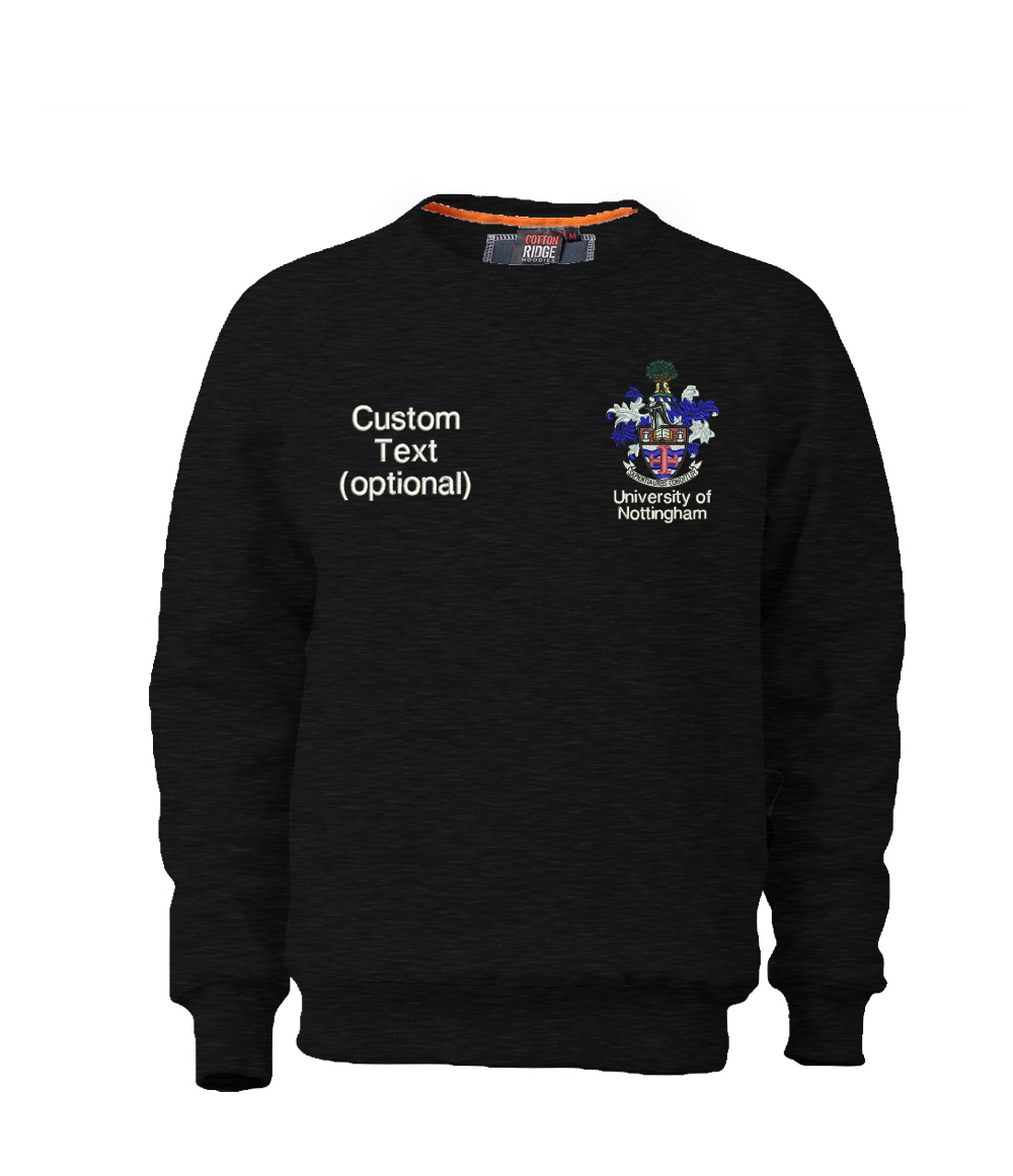 W107PF-Embroidered Nottingham Ultra Premium Sweatshirt-Nottingham Sweatshirt